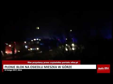 Wideo1: Gaszenie pożaru w mieszkaniu w Górze