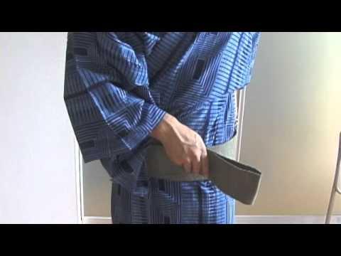 how to fasten a kimono