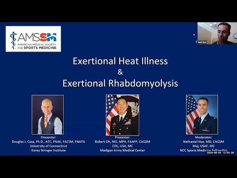 Heat Illness and Rhabdomyolysis | National Fellow Online Lecture Series