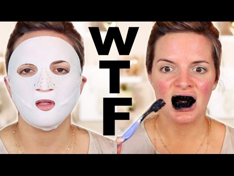 TRYING WEIRD BEAUTY PRODUCTS | Casey Holmes
