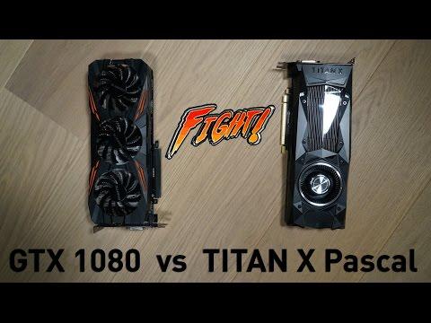 TITAN X Pascal ($1200) vs ($650) GTX 1080 G1 Gaming - На сколько мощнее?