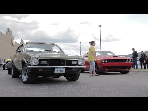 1972 Ford Maverick vs. 2015 Challenger Hellcat at 2015 Duluth Drag Races