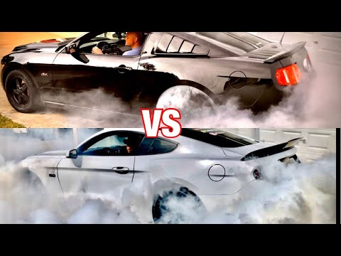 """Burnout competition """"Ford vs Chevy"""" who wins?"""