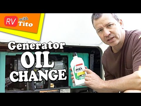 Onan - In this video I show you how to change the oil in your Onan RV generator. For more details go to http://bit.ly/PtjGoS. My Website: http://www.rvwithtito.com ...