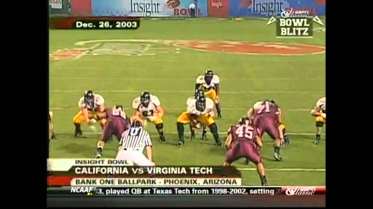 Aaron Rodgers vs Virginia Tech (2003) (2013)