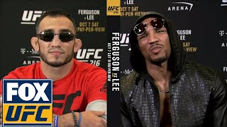 Video Tony Ferguson and Kevin Lee get heated ahead of UFC 216 | UFC TONIGHT MP3, 3GP, MP4, WEBM, AVI, FLV Juni 2019