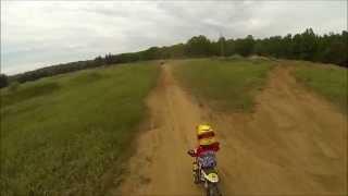 5. 4 year old first big crash on yamaha  pw50 dirt bike