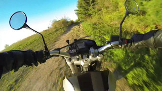 8. BMW G650 Xmoto off road with a near crash