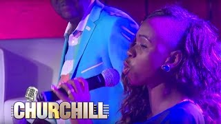 Evelyn Wanjiru performs  Mungu Mkuu on Churchill Show