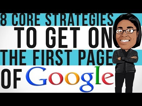 How To Get On The First Page Of Google FAST | 8 CORE STRATEGIES REVEALED