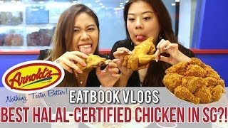 ARNOLD'S — ONE OF SG'S BEST HALAL FRIED CHICKEN?! l Eatbook Vlogs l EP 24 Tucked in a corner of the second level of City Plaza is none other than one of Singapore's first and oldest halal-certified fried chicken chain — Arnold's Fried Chicken. After hearing many rave about them, we've decided to go and check it out!In this episode, you'll get to watch and listen to our honest reviews on whether the fried chicken and sides here are worth your money. Also, two of our hosts are crazy fans of chicken so watch to see them gobble down an entire spring chicken meal by themselves!Know any places we should check out? Leave it in the comments below!For more information on the restaurant and food, read our full review here:http://eatbook.sg/arnolds-fried-chicken/Follow Eatbook SG on Social Media!https://facebook.com/EatbookSGhttps://instagram.com/eatbooksgFeaturing (in order of appearance):Stephanie J. Low - https://instagram.com/heytheredreamerTammy Lim - https://www.instagram.com/tamscratchesFilmed By:Gwen Lee - https://instagram.com/gwenleeeStephanie J. Low - https://instagram.com/heytheredreamerTiffany Lim - https://www.instagram.com/tipsylimEdited By:Gwen Lee - https://instagram.com/gwenleeeBusiness And Sponsorship Enquiries:hello@eatbook.sg