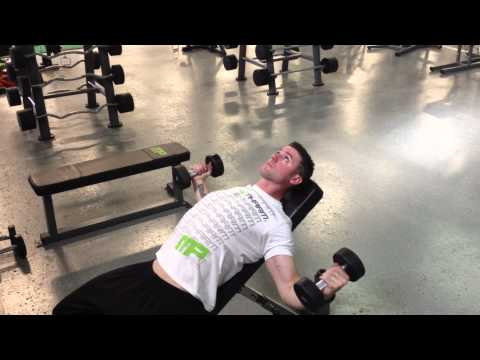 Incline Dumbbell Fly 4 Count Stretch At Bottom
