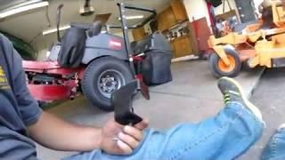 5. Change Blades on Mower.  Toro Titan ZX4800