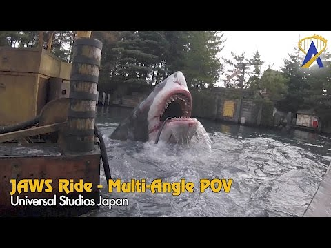 Jaws Ride At Universal Studios Japan - 2016 Multi-angle Pov