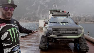 Monster Energy: KEN BLOCK SHOWCASES HIS FORD F-150 RAPTORTRAX - YouTube