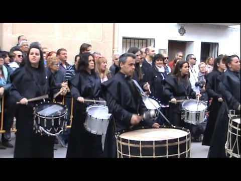 Samper de Calanda - Exhibición tambores -  Semana Santa 2015