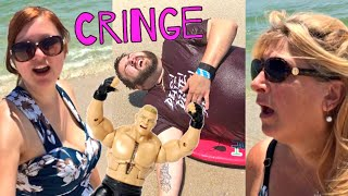 WATCH PPV HERE: https://www.youtube.com/watch?v=P6yAgEqlPtQHeel wife gets triggered about grim embarrassing the family playing with action figure toys at the beach, rolling around like a whale in the ocean and being cringe and she reveals that she is possibly pregnant in this hilarious fun happy family holiday daily vlog! fan mail addressgrims toy showpo box 371island heights nj 08732GTS SHIRTS AT http://www.prowrestlingtees.com/grimstoyshowGTS CHANNEL: https://www.youtube.com/watch?v=InsA0vtvSK8GRIMS TOY CHANNEL: https://www.youtube.com/watch?v=gaXIJukCHksMORE FUN AT OUR WEBSITE http://grimstoyshow.com/FOLLOW US ON TWITTER https://twitter.com/GrimsToyShow