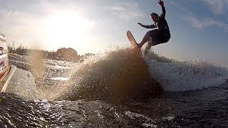 GoPro Wetsuit Wake Surfing Warm November Day Very Cold Water On an unusually warm November day, my wake surfing friend called me up and said