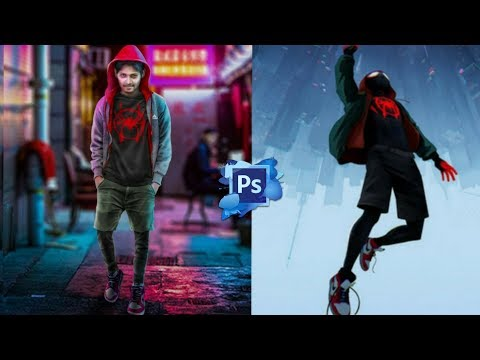 SPIDERMAN INTO THE SPIDER-VERS | POSTER | CONCEPT ART | SPEED WORK | PHOTOSHOP