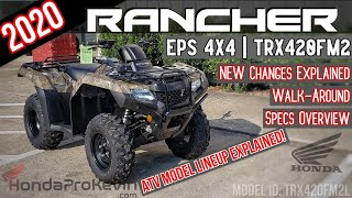 7. 2020 Honda Rancher 420 EPS 4x4 Camo ATV Review of Specs + NEW Changes Explained! | TRX420FM2