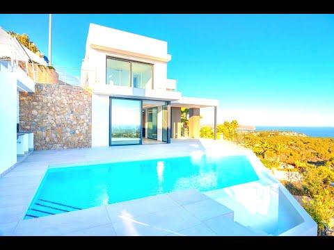 Новая вилла в Кальпе с видами на море/Дома в Испании в современном стиле Модерн/Hi-Tech/Хай-тек