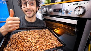 I Tried Roasting Cocoa Beans But Failed At Winnowing... by Alex French Guy Cooking