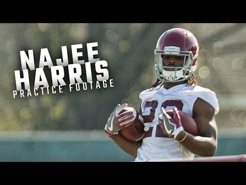 Watch Najee Harris run drills during the Alabama Crimson Tide's first spring practice