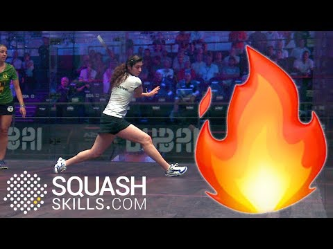 Playing on a hot squash court - The working boast