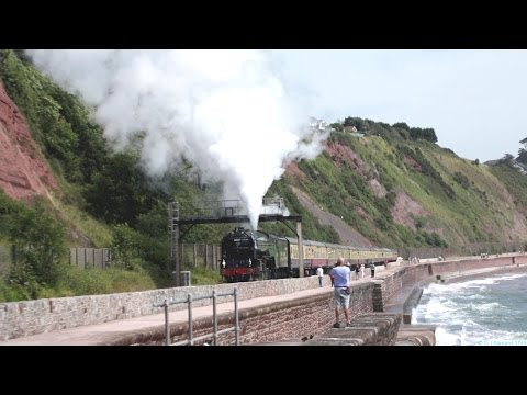 LNER 60163 Tornado at Teignmouth on the Torbay Express 2n...