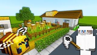 "Minecraft Tutorial: How To Make A Bee Farm / Honey Farm ""2019 City Tutorial"""
