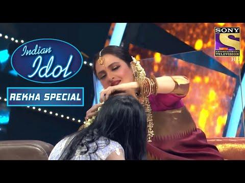 Rekha Ji ने Adorably पहनाया Sayali को Gajra | Indian Idol Season | Bollywood Mix Performances