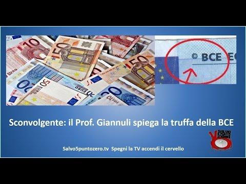 Sconvolgente! Il prof. Giannuli spiega la truffa della BCE e della moneta Euro (видео)