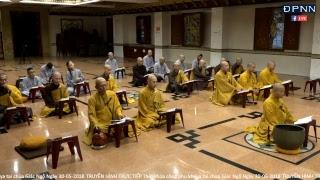 Thời khóa công phu khuya tại chùa Giác Ngộ Ngày 30-05-2018