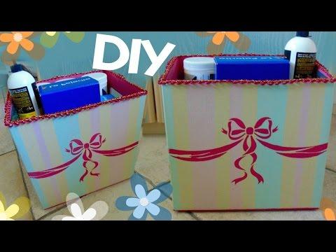 Tutorial: Contenitori super Fashion | Come riciclare vecchie scatole di cartone | DIY Kawaii Box