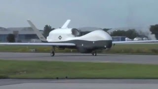 Northrop Grumman MQ-4C Triton Arriving at at Patuxent
