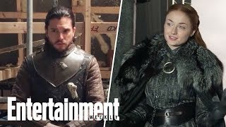 Game of Thrones cast members Isaac Hempstead Wright, Kit Harington, Maisie Williams and Sophie Turner weigh in on who should rule the iron throne and ...