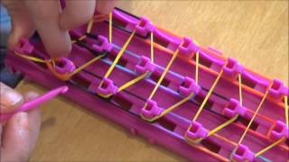 How to make a crazy loom bracelet waterfall - YouTube