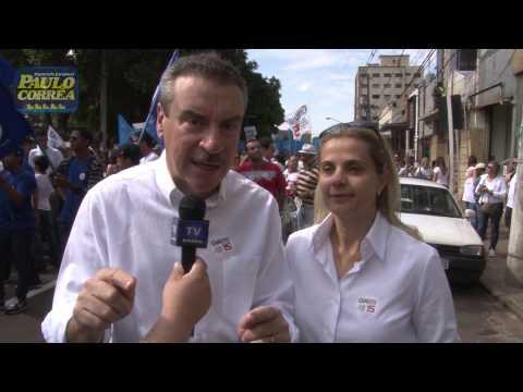 O Deputado Estadual Paulo Corrêa Participou Da Caminhada Realizada Pelo Candidato A Prefeito Giroto