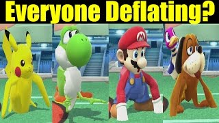 What If Every Character Tries to Deflate Like Jigglypuff In Super Smash Bros Wii U (Smash 4 Mods)