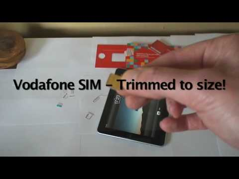 vodafoneuk - Showing how a standard UK Pay As You Go Vodafone SIM Card can be used in an iPad 3G after being cut to size!