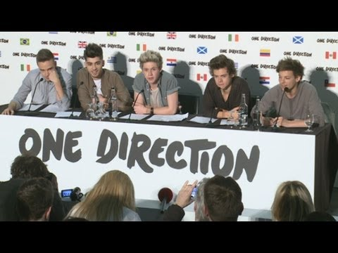 Tour - One Direction announce plans for a world stadium tour in 2014 and talk about partying in Brazil, playing football at 3am and their new album. The lads, who r...