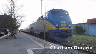 Chatham (ON) Canada  City pictures : VIA Rail Canada ( Windsor - Chatham Ontario )