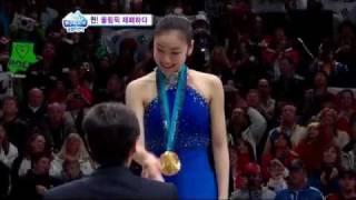 SBS 2010 0226 올림픽센터 여왕 올림픽 제패하다. Vancouver Olympics 2010 QUEEN YUNA OLYMPIC FIGURE SKATING CHAMPION February 26/2010 Yuna Kim (김연아) Country represented : Sou...