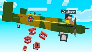 We Added A TNT BOMBER PLANE In MINECRAFT! (Planes Mod)