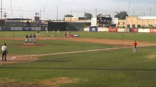 Baseball Player Knocked Over By Skydiver