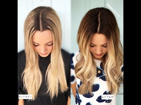 DEMARCATION LINE TO MELTED BLONDE| FORMULA INCLUDED