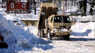 Braintree (MA) United States  city images : National Guard Widens Roadways in Braintree MA - 2/13/15