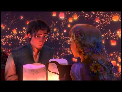 tangled - If this doesn't get nuked for copyright issues, I'll be damned. Anyway, this is the lantern scene with Rapunzel (Moore) and Flynn (Levi) in which they sing t...