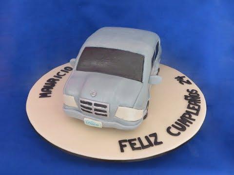 Queque Mercedes -- How to make a Mercedes car cake