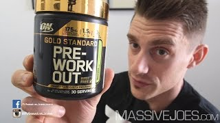 Optimum Nutrition Gold Standard Pre-Workout Supplement Review - MassiveJoes.com RAW Review ON GS Pre